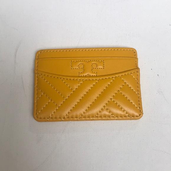 Tory Burch Handbags - NWT Tory Burch Yellow Slim Card